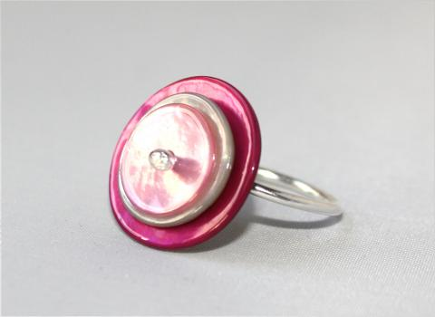 Cute as a button rosa