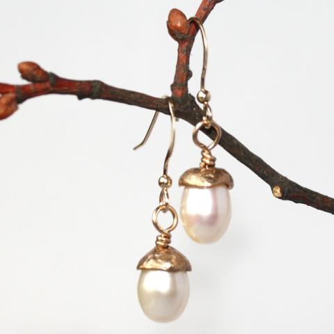 örhängen Oak brons/goldfilled