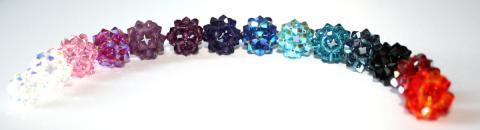 Swarovskibollar i olika färger