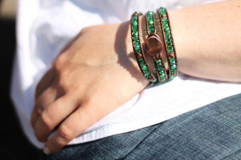 wraparmband grönt koppar