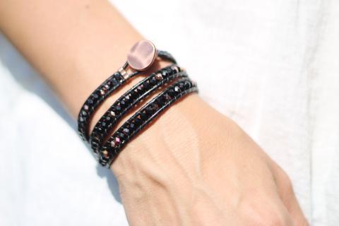 Wraparmband svart och koppar