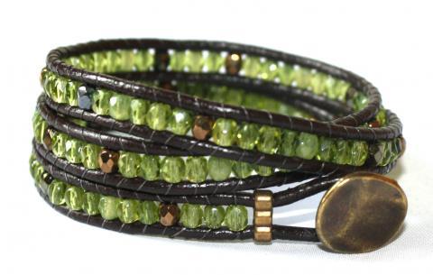 wraparmband grönt brunt