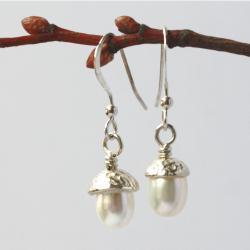 Örhängen ekollon silver