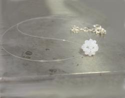 Swarovskiboll small white opal