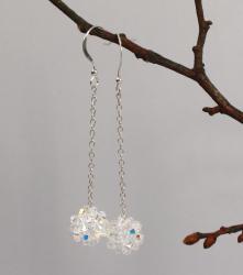 Swarovskibollar örhängen crystal
