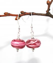 Örhängen Swirl rosa