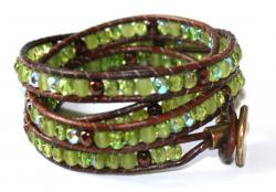 wraparmband grönt och brunt