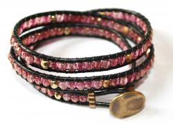 wraparmband rosa guld