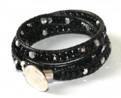 wraparmband svart silver