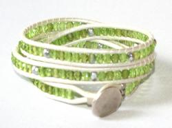 wraparmband grönt vitt